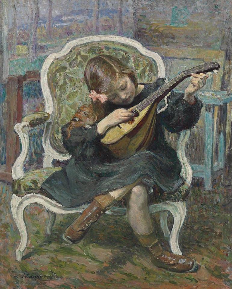 The little mandolin player (Marthe Lebasque),1905